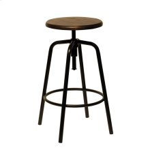 Blackened Bronze Factory Stool