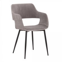 Ariana Mid-Century Grey Open Back Dining Accent Chair