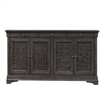 4 Door Accent Cabinet - Gray