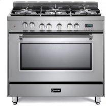 "Stainless Steel 36"" Dual Fuel Single Oven Range - Prestige Series"