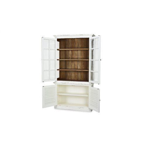 2 Door Cottage Cabinet w/ Glass - WHD DRW