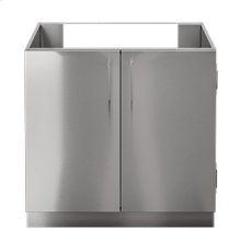 "OUTDOOR KITCHEN CABINETS IN STAINLESS STEEL  PURE 36"" Sink Base Cabinet 2 Doors"