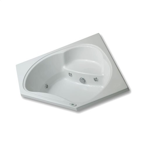 "Easy-Clean High Gloss Acrylic Surface, Corner, Whirlpool Bathtub, Standard Package, 60"" X 60"""