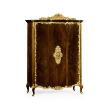Mahogany & Gilded Carved Armoire