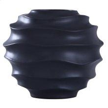 ERIS VASE  Matte Black Finish on Ceramic