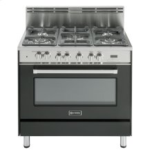 "36"" Dual Fuel Single Oven Range Matte Black"