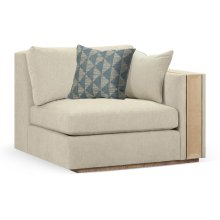 "45"" Hamilton Golden Ale Oak Right One-Seat Sofa Sectional, Upholstered in Synergy"