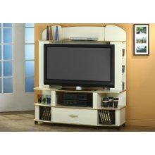 TV STAND - CHAMPAGNE / BRASS / FLAT SCREEN TV