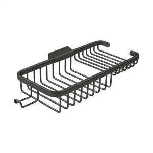 """Wire Basket 10-3/8"""", Rectangular Deep & Shallow, With Hook - Oil-rubbed Bronze Product Image"""