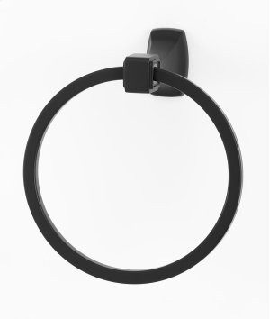 Cube Towel Ring A6540 - Unlacquered Brass Product Image
