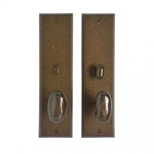 """Rectangular Privacy Set - 3 1/2"""" x 13"""" Silicon Bronze Brushed"""