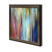 Framed textured print of Sunset Falls II