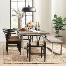 Waverly - Dining Table - Sandblasted Gray Finish