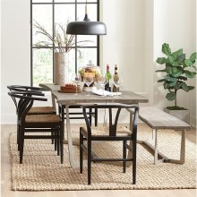 Mix-n-match Chairs - Wishbone Side Chair - Glossy Black Finish