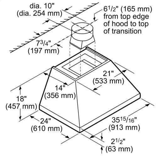 36-Inch Professional Chimney Wall Hood