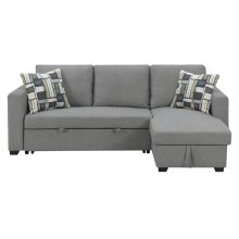 Emerald Home Langley Lsf Chaise With 1 Accent Pillow-platinum-u4339-29-30-19-k