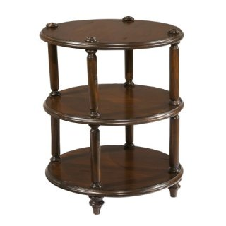 Charleston Place Round 3-Tier Lamp Table
