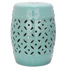 Lattice Coin Garden Stool - Robins Egg Blue Product Image