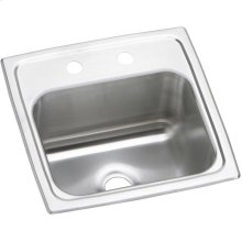 "Elkay Pacemaker Stainless Steel 15"" x 15"" x 6-1/8"", Single Bowl Drop-in Bar Sink"
