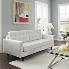 Empress Bonded Leather Sofa in White