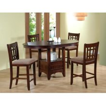 Empire Counter Height Table with 4 Chairs