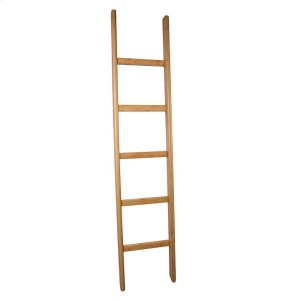 "65"" Freestanding Bamboo Ladder Towel Rack Product Image"