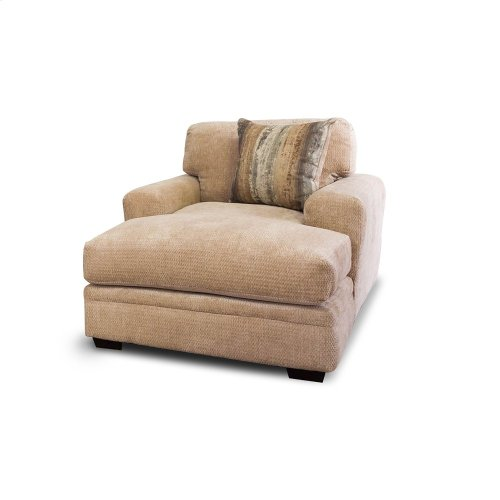 1 ONLY - Chaise With 1 Pillow, in Haskell Beige fabric