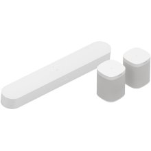 White- A smart soundbar and rear surrounds for TV, music, and more.
