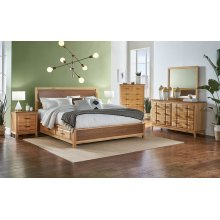 KING BED WITH SIDE RAIL STORAGE