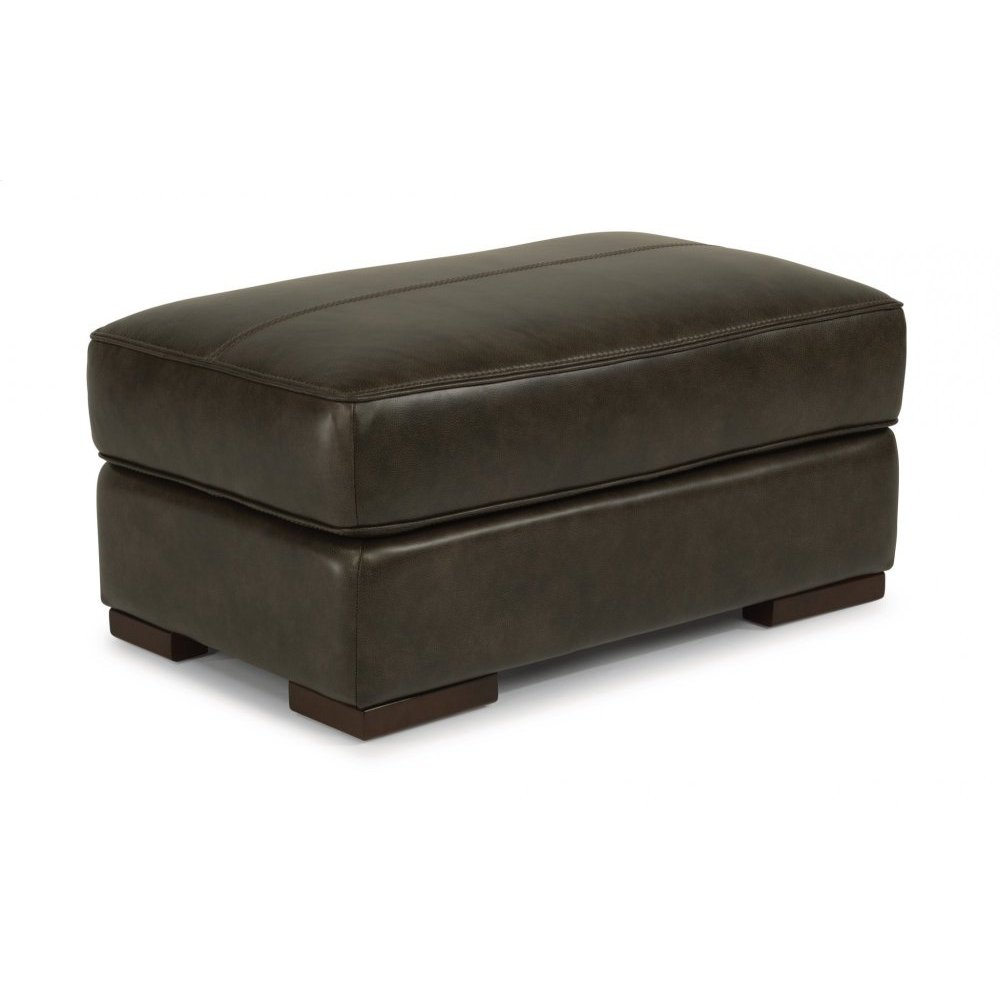 Jade Leather Rectangular Cocktail Ottoman