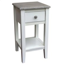 Mission Accent Table - Rw+/wht