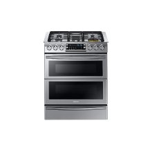 5.8 cu. ft. Slide-in Dual Fuel Range with Flex Duo & Dual Door in Stainless Steel