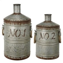 39688  S/2 Patchin Metal Jugs