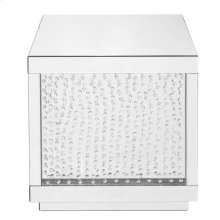 24 inch Square Crystal End Table in Clear Mirror Finish