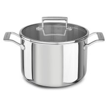 Tri-Ply Stainless Steel 8.0-Quart Stockpot with Lid