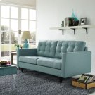 Empress Upholstered Fabric Loveseat in Laguna Product Image