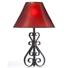 """21"""" Forged Iron Lamp No Shade"""