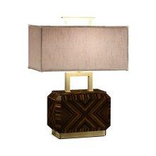 Tea Caddy Macassar Ebony High Lustre Table Lamp