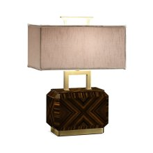 Tea Caddy Macassar Ebony High Lustre Table Lamp