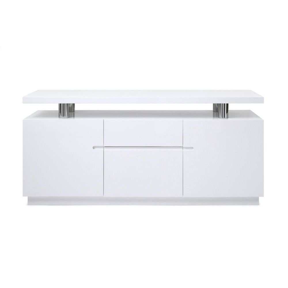 Modrest Stanford Modern White Office Credenza