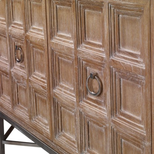 Tiered 3 Door Multi-Use Cabinet