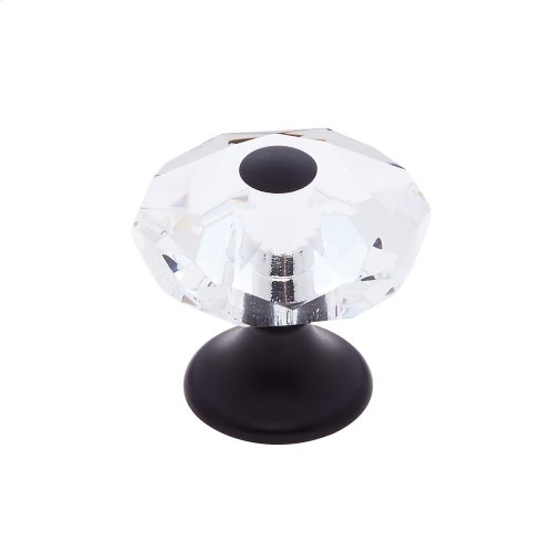 Oil Rubbed Bronze 28 mm 8-Sided Crystal Knob