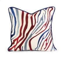 IK Bahari Multi-Color Embroidered Linen Pillow w/Down Fill