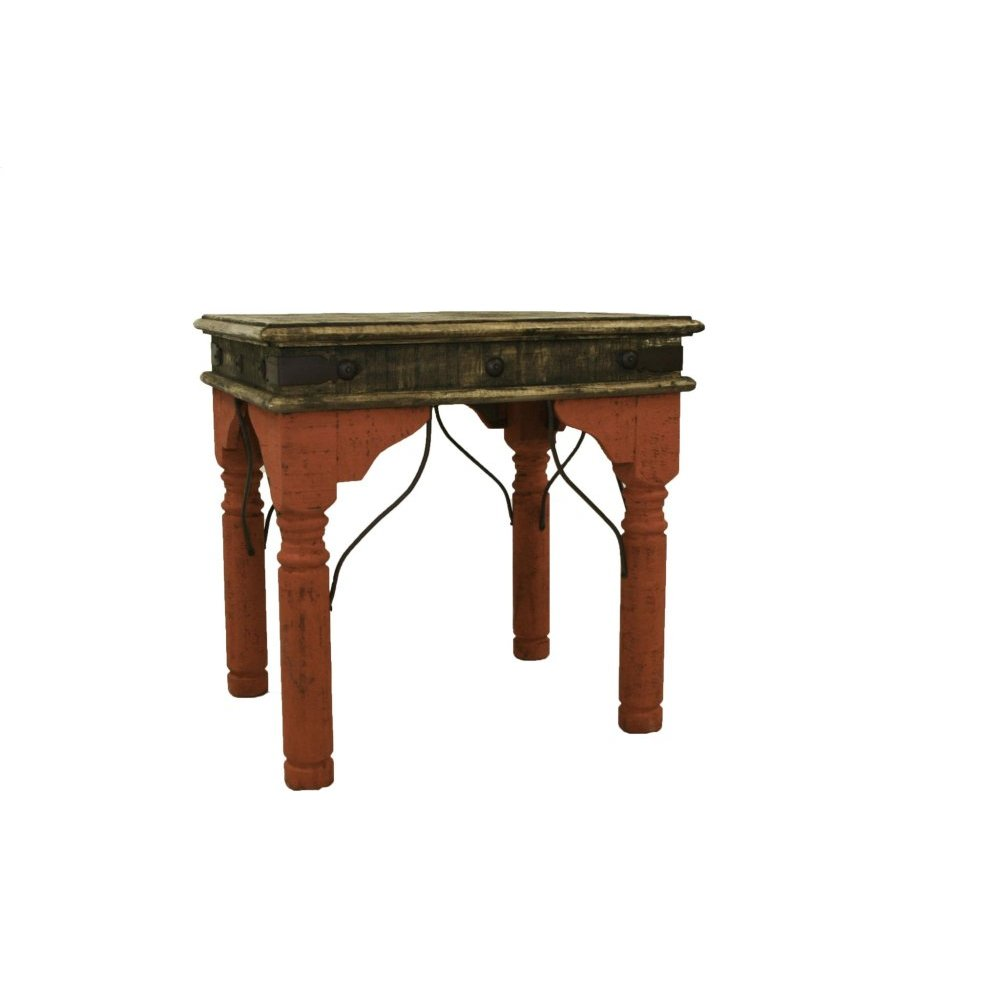 Red Indian End Table