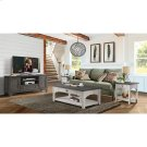 Grand Haven - Square Side Table - Feathered White/rich Charcoal Finish Product Image