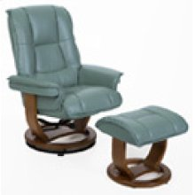 R-116 Pluto Teal Leather Recliner