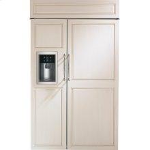"Monogram 48"" Built-In Side-by-Side Refrigerator with Dispenser"