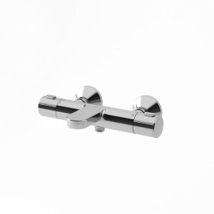 Thermostatic shower mixer valve with tub spout - Chrome Product Image