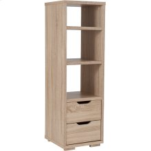 "Howell Collection 3 Shelf 49.5""H Bookshelf with Storage Drawers in Sonoma Oak Wood Grain Finish"