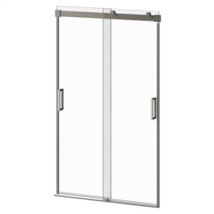 """48"""" X 77"""" Sliding Shower Door With Clear Glass - Chrome Product Image"""